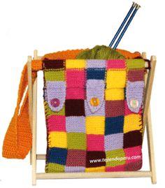 Bolso para trasladas los materiales y accesorios para tejer (tejido en dos agujas o palillos9