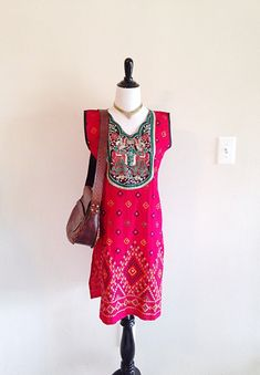 Bright Boho Ethnic Tribal Indian Dancer Tunic by thelittlegrasshut