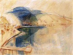EGRY JÓZSEF: A BADACSONYI ÖBÖL Art History, Fine Art, Landscape, Painters, Decor, Board, Scenery, Decoration, Decorating
