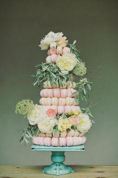Layers macaron cake, Alixann Loosle Photography.
