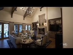 Stunning Home in Two Rivers - French Country Waterfront Home - YouTube Two Rivers, Waterfront Homes, Kitchen Styling, French Country, Chandelier, Ceiling Lights, Decorating, Videos, Youtube