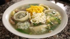 dumpling soup (manduguk: 만두국)