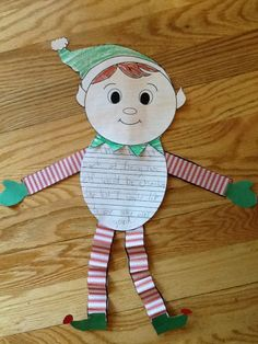 The best part of being an elf writing craft.  Part of Christmas Literacy activities pack.