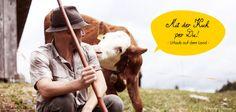 """Ob Kühe melken, Stall ausmisten oder Heu einfahren - in unserem neuesten Themen-Special """"Mit der Kuh per Du!"""" hat JUST AWAY die schönsten Reisen aufs Land für euch ausgewählt. http://de.justaway.com/reise-urlaub-special/mit-der-kuh-per-du/"""