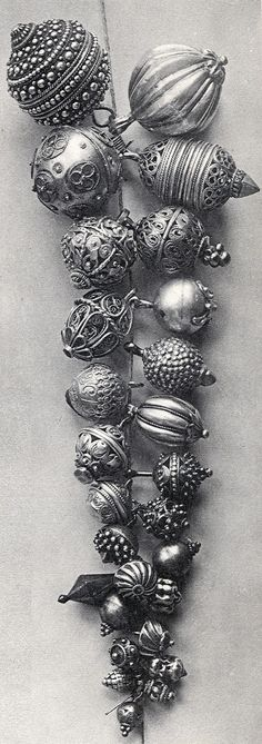 Croatia - round silver buttons, typical of much of central Dalmatia. These were especially associated with Šibenik, and may be small or large, simple or very fancy.