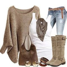 over-sized tan sweater More