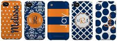 Monogrammed Auburn Colored I-phone Cases... too bad i have a crappy droid...