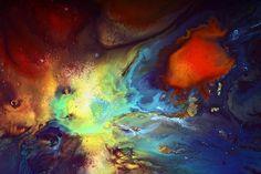 Liquid Mixed Media - Magic Variety - Contemporary Liquid Abstract Art By Kredart by Serg Wiaderny