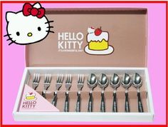 Imported Hello Kitty Stainless 10 pcs. Tea Spoon & Fork Set