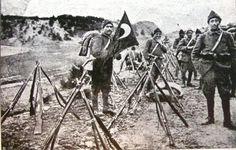 Turkish infantry taking a break - Battle of the Dardanelles in 1915