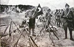 Turkish infantry taking a break - Battle of the Dardanelles in 1915