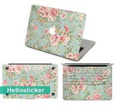 flower front stickers Bottom stickers Keyboard cover decal macbook decal macbook sticker macbook skin