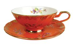 Afternoon Tea Cup And Saucer Orange