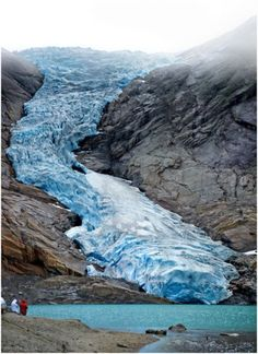 Briksdal Glacier, Norway. This is one of the most accessible and famous glaciers in the world. It ends in a small glacial lake, high above sea level.