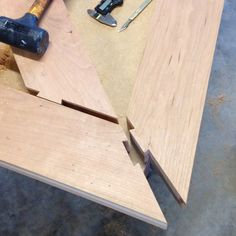 Self clamping dovetailed mitre FTW  #dovetail #joinery #woodworking #furnituremaker #custommade #australiandesign