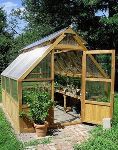Amazing Shed Plans - DIY Greenhouse - Now You Can Build ANY Shed In A Weekend Even If You've Zero Woodworking Experience! Start building amazing sheds the easier way with a collection of shed plans! Diy Greenhouse Plans, Backyard Greenhouse, Diy Shed Plans, Backyard Sheds, Greenhouse Wedding, Homemade Greenhouse, Simple Greenhouse, Greenhouse Kitchen, Portable Greenhouse