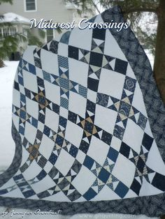 Midwest Crossings Quilt Tutorial (uses Indigo Crossings fabric) | Moda Bake Shop