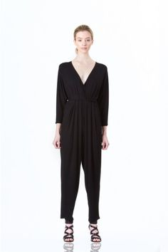 Diva Jumpsuit by Kali. A stylish high-waisted jumpsuit with a 70s flare and figure-flattering fit! #Fashion #style