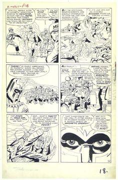 Stan Lee, Jack Kirby, Paul Reinman, Sam Rosen | X-Men #1, page 15, 1963. Original page, uncoloured. | #comics #marvel