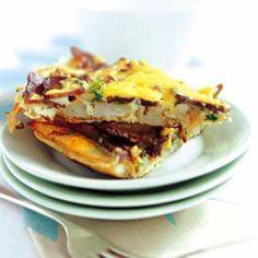 Cheese and biltong frittata