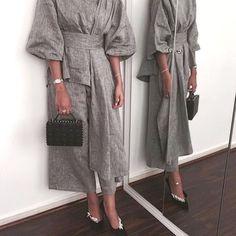 Kimono two pieces Abaya Fashion, Muslim Fashion, Modest Fashion, Fashion Dresses, Modest Wear, Modest Dresses, Modest Outfits, Hijab Dress, Hijab Outfit