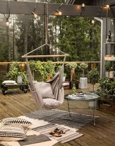 Debbie, We could make this. There are DIY instructions for hanging chairs like this with info on how to ensure both fabric and hanging materials/hardware hold adults from 200 up to 250lb. K
