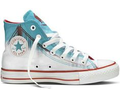 Chuck Taylor All Star City - Over a four-month period, six shoe designs have been released by ShoeBiz and Converse to create the Chuck Taylor All Star City collection. Mode Converse, Converse Shoes, Shoes Heels, Galaxy Converse, Converse Style, Converse Sneakers, Louboutin Shoes, Converse High, Trendy Shoes