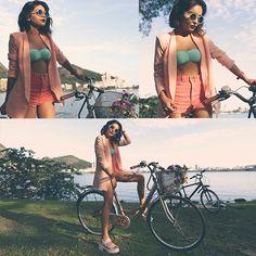 Alana Ruas - Missguided Blazer, Chic Wish Sunglasses, Missguided Sandals - Dark lips & Pink