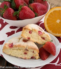 Strawberry Buttermilk Scones | Incredible adaptation from baker Marion Cunningham