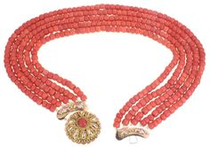 Traditional  Blood Coral Jewelery from the Province of Zeeland, The Netherlands