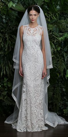 0b7d2cd5fa9 Naeem Khan - Naeem Khan Fall 2014 Wedding Dresses - InStyle Weddings -  Celebrity - InStyle