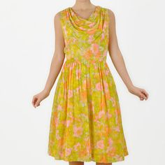 Floral Print Dress Neon now featured on Fab.