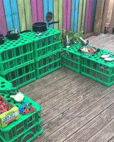 More than just a Crate! Open-ended play is nothing new, but these Crates are our new staple for play, fun and developing engaging scenes to spark curiosity! Year 1 Classroom, Eyfs Classroom, Outdoor Classroom, Outdoor School, Eyfs Outdoor Area, Outdoor Play Areas, Outdoor Fun, Eyfs Activities, Nursery Activities