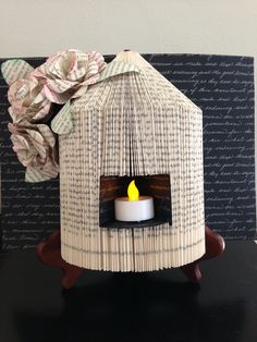 I followed the YouTube tutorial for the birdcage with the tea light and came up with my rendition.