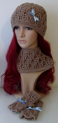 Crochet Cowl  Cable and Eyelet Design  INSTANT by TCDesignsUK