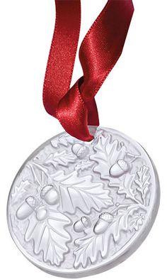 NIB RARE Lalique Fragrances 4 Swallows Birds logo christmas ornament ball