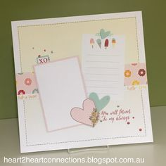 An adorable page layout featuring the January Stamp of the Month from http://heart2heartconnections.blogspot.com.au