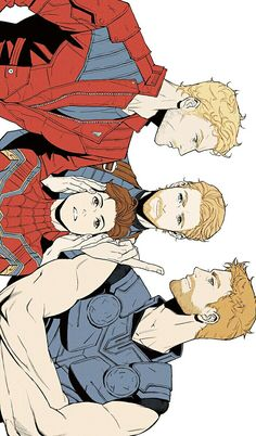 Avengers Infinity War || Starlord, Thor, Captain America & Spider-Man || Cr: 우봉
