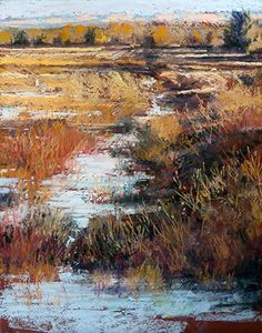 Bosque Wetlands by Margi Lucena was awarded Outstanding Pastel in the January 2015 BoldBrush Painting Competition.