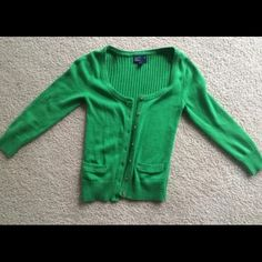 3/4 length green American Eagle cardigan size S 3/4 length green American Eagle cardigan size S American Eagle Outfitters Sweaters Cardigans