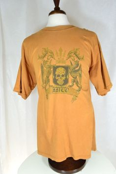 #JNCO T #Shirt XL #Orange #Skull #Shield #Griffins 100% Cotton Short Sleeve #Distressed for #auction in my ebay store