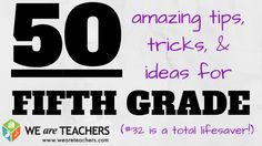 Tricks for Fifth Grade. These are really wonderful ideas...most can be adapted to many grade levels.I guarantee you will walk away with at least one spectacular idea. Good stuff