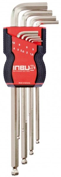 INBUS® 70167 - 70181 - Farbvarianten metrisch 9tlg. 1,5-10mm Made in Germany      Satz 9tlg. 1.5-10mm     2 Komponeten für einen angenehmen & sicheren Griff     hochwertiges und exklusives Design     arbeiten in einem Winkel bis 30°     10 Jahre Garantie     Marke: INBUS® - Das Original seit 1934.   http://www.inbus.de/home/inbus-metrisch-kugelkopf/10/inbus-70167-70181-farbvarianten-metrisch-9tlg.-1-5-10mm?c=6