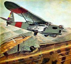 Potez 540 vs Fiat CR32 ,1937