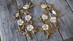 Syroco Flowers/Wall Hanging/1960-1970s/Made in the USA/Set of