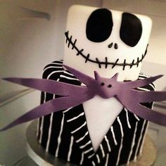 Jack cake.  Cause she loves the movie Nightmare Before Christmas