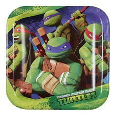 Teenage Mutant Ninja Turtle Square Plates Green | Spotlight Australia