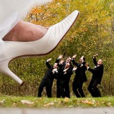 Groomsmen Elevated The Wedding Photo Game / funny groomsmen wedding photo ideas / http://www.deerpearlflowers.com/fun-groomsmen-photo-ideas-and-poses/