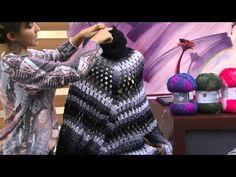Vestido poncho em crochê com receita, gráfico e vídeo aula - Katia Ribeiro Crochê Moda e Decoração Handmade