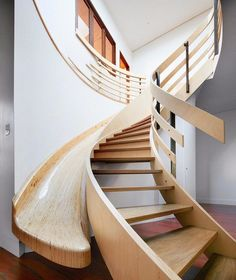 25 Brilliant Modern Staircase Design Ideas To Draw Inspiration From Contemporary Stairs, Modern Staircase, Staircase Design, Staircase Ideas, Stair Design, Wood Staircase, Loft Design, Stair Railing, Stair Slide